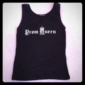 Ribbed Prom Queen tank